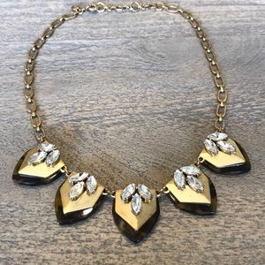 J Crew Tortoise Shell Statement Necklace
